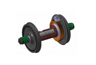 Wheelset & Bearing Assembly for Diesel Electric Locomotive(HID Type)